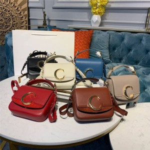 chloe new stitching leather C LOGO small square bag diagonal cross bag