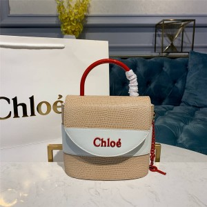 chloe new lizard pattern cowhide small ABY LOCK handbag bucket bag