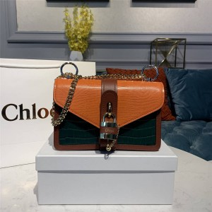 Chloe official website new crocodile pattern GIRLS ABY lock chain bag