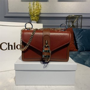 chloe new leather stitching ABY lock chain bag crossbody bag