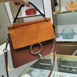 chloe classic new suede stitching leather Faye organ bag handbag