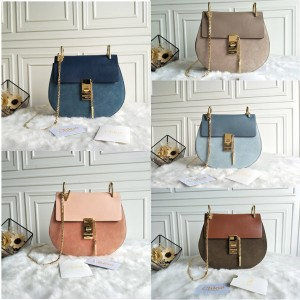 chloe official website classic Drew stitching suede shoulder bag