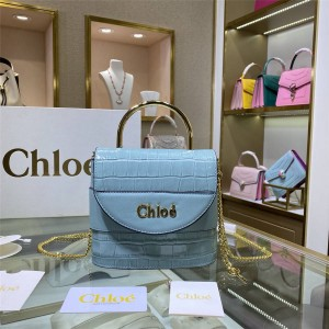 chloe new crocodile leather small ABY LOCK handbag