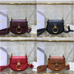 Chloe official website new plain leather small TESS bag handbag