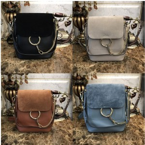 Chloe official website classic suede small/large Faye backpack