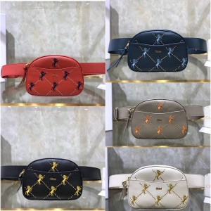 Chloe new pony embroidery Signature waist bag chest bag