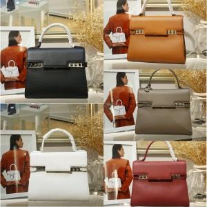 Delvaux pebbled leather Le Tempete GM handbag tote