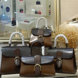 Delvaux's new three-color box leather Brillant handbag