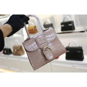 Delvaux official website crocodile pattern small Brillant bag handbag