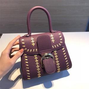 Delvaux woven limited small Togo leather brillant handbag