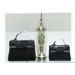 Delvaux bag classic crocodile print Temppete handbag