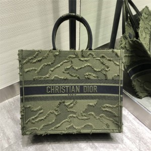 DIOR new BOOK TOTE camouflage canvas shopping bag