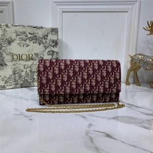 dior new canvas OBLIQUE clutch bag chain bag S5401