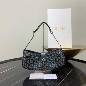 dior women's bag vintage flower OBLIQUE hand carry / underarm bag