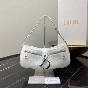 DIOR Handbag Classic Leather Vintage Handbag / Underarm Bag