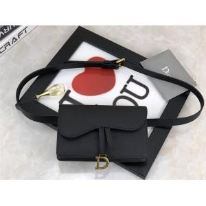 DIOR handbags new palm pattern leather saddle waist bag S5619