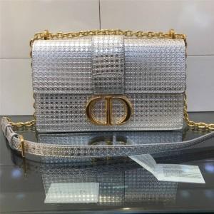 DIOR Women's Bag Rattan Check 30 MONTAIGNE Flip Chain Bag