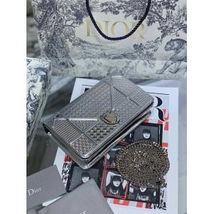 DIOR classic Teng check diorama MINI woc chain bag shield bag