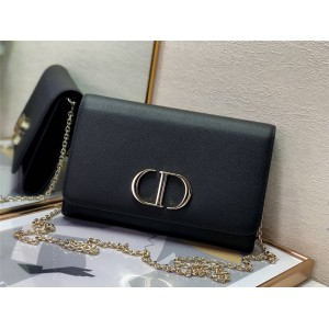 DIOR new palm print leather 30 MONTAIGNE chain wallet S2059