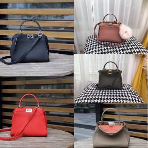 FENDI new PEEKABOO ICONIC mini handbag with outer stitching