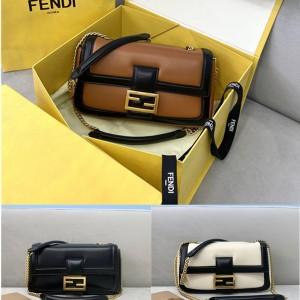 FENDI new color matching BAGUETTE chain bag handbag 8BR783