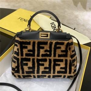 FENDI new PEEKABOO ICONIC wool handbag