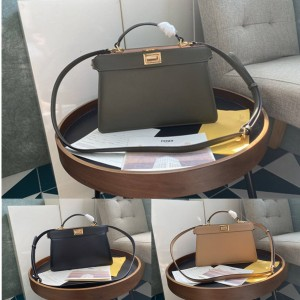 FENDI PEEKABOO ISEEU EAST-WEST leather handbag 8BN323