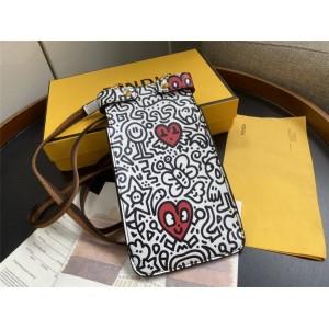 FENDI PEEK-A-PHONE Peekaboo printed mobile phone bag 8M0442