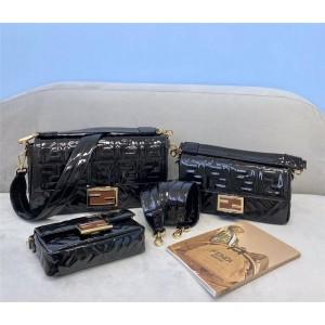 FENDI new bag patent leather BAGUETTE handbag