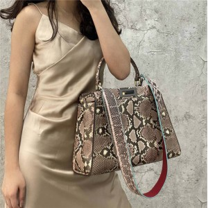 FENDI new PEEKABOO ICONIC snakeskin handbag