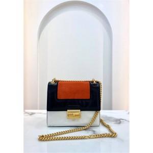 FENDI new stitching color matching KAN U chain bag 8BT312
