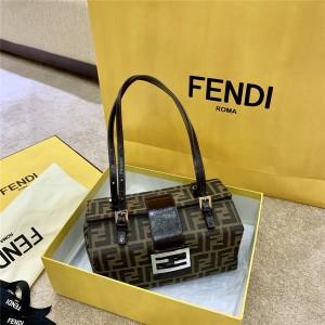 FENDI New Medieval Series Old Flower Portable Box Bag Case Bag