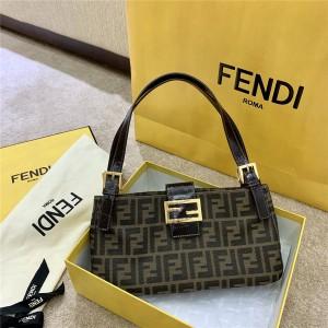 FENDI new middle ancient series old flower vintage shoulder bag