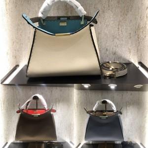 FENDI outer stitch PEEKABOO ICONIC ESSENTIALLY handbag 8BN302