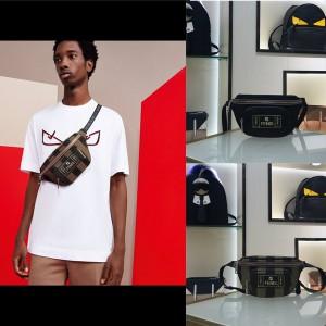 fendi new men's canvas small waist bag chest bag 7VA446