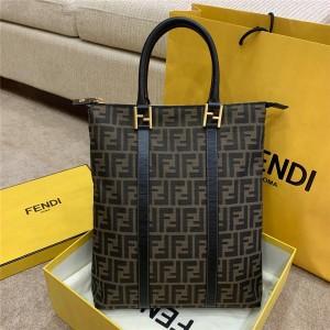 fendi official website FF canvas vintage tote bag