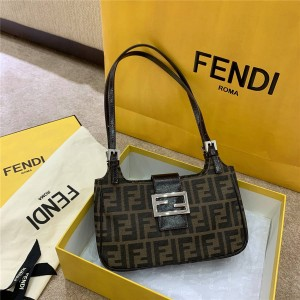 fendi official website double F Logo old flower shoulder bag