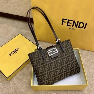 fendi FF pattern canvas old flower vintage tote bag