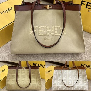 FENDI new PEEKABOO X-TOTE canvas shopping bag 8BH374