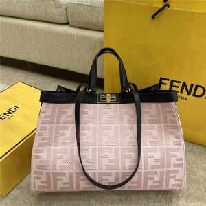 FENDI PEEKABOO X-TOTE canvas shopping bag cherry blossom pink 8BH374