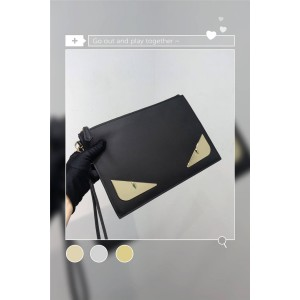 FENDI New Men's Bag Bugs Eye Envelope Clutch