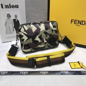 FENDI new men's bag camouflage little monster messenger bag