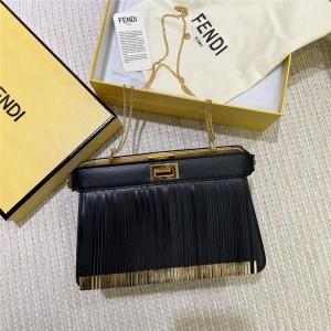 FENDI Mini PEEKABOO I SEE U Clutch Tassel Chain Bag
