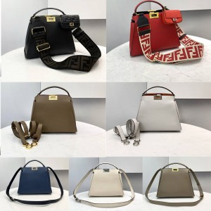 Fendi PEEKABOO ESSENTIALLY calfskin handbag 8BN302