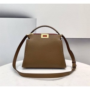 fendi PEEKABOO ESSENTIALLY outer stitch handbag 8BN302