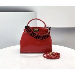 FENDI patent leather PEEKABOO ICONIC MINI handbag 8BN244