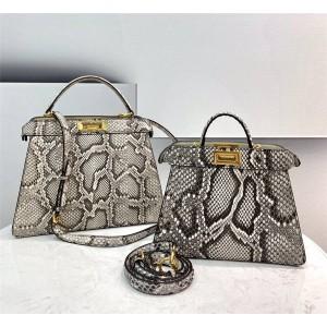 fendi PEEKABOO I SEEU python leather handbag 8BN327/8BN321