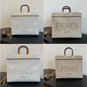 fendi Sunshine canvas shopping bag 8BH386/8BH372