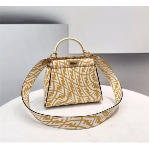 fendi FF Vertigo leather PEEKABOO mini handbag 8BN244