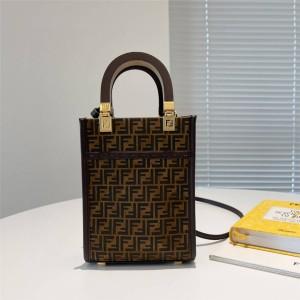fendi FF pattern suede Sunshine mini handbag 8BS051